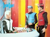 Captain Scarlet - 'Colonel White Briefs Captains Blue and Scarlet' Postcard